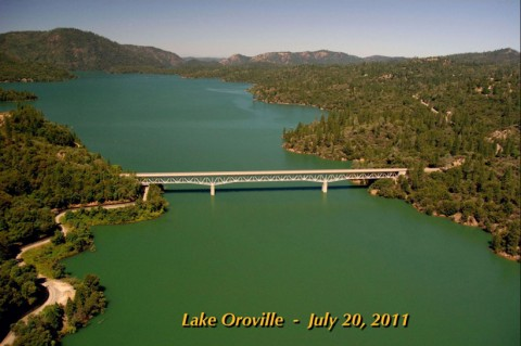 California's Lake Oroville in 2011. Photo from California Department of Water Resources.