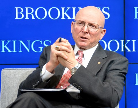 Adm. Robert Papp, Jr. speaking at the Brookings Institution on 12 March. Credit: Randy Showstack