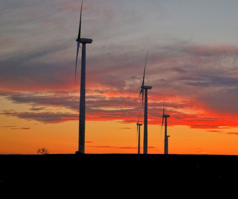 Wind turbines in Weatherford, Okla. Credit: Christopher Neel via USGS, CC BY 2.0