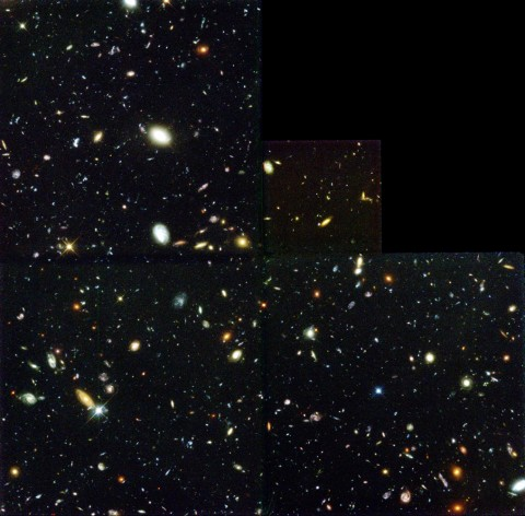 The original Hubble Deep Field, imaged by Hubble in 1994, shows some 1,500 galaxies and providesd what was then one of the most detailed and deepest views of a tiny slice of the cosmos. Credit: R. Williams, STScI; Hubble Deep Field Team; NASA/ESA
