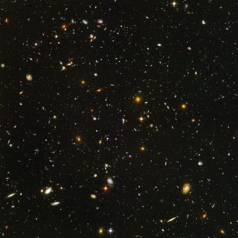 """Scientists peer into the """"dark ages"""" of star formation in Hubble's Ultra Deep Field image. Credit: NASA/ESA/S. Beckwith (STScI)/HUDF Team"""