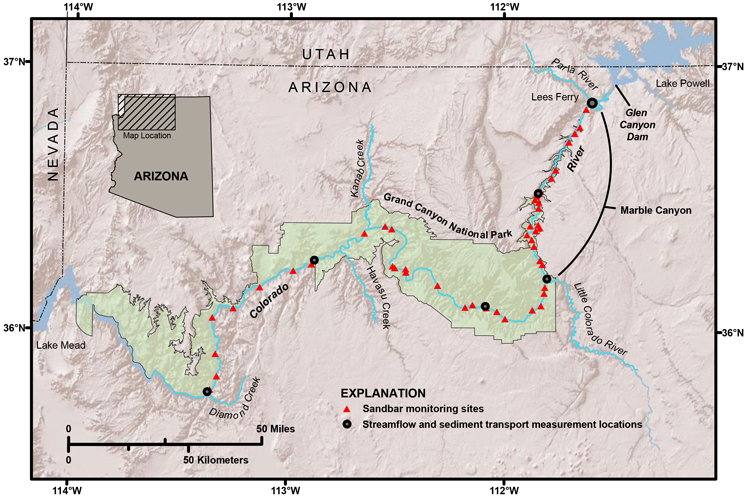 Building Sandbars in the Grand Canyon  Eos