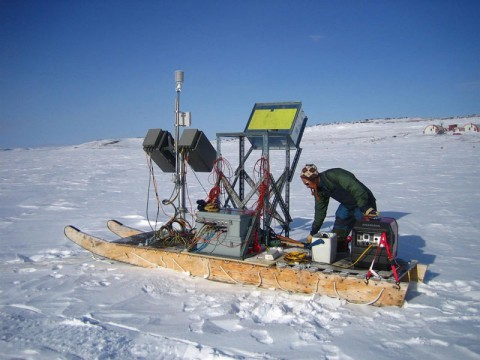 To improve Arctic models, scientists undertake fieldwork allowing them to record observations under shifting arctic baselines. Credit: Andrew Rees