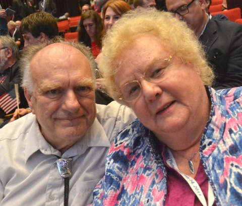 James Christy, who discovered Charon, a moon of Pluto, and his wife Charlene. Credit: Randy Showstack