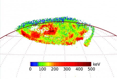 Electron energy map could provide insight into why Jupiter's upper atmosphere is so hot. Credit: Gerard, et al.