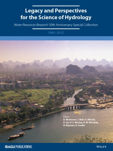 A special section of Water Resources Research celebrates the fiftieth anniversary of the journal, whose first issue was published in March 1965. Credit: AGU/WRR