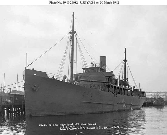 USS Muskeget, 30 March 1942. Credit: U.S. Navy