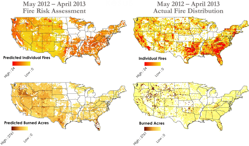 Assessing US Fire Risks Using Soil Moisture Satellite Data Eos - Map of fire risk us