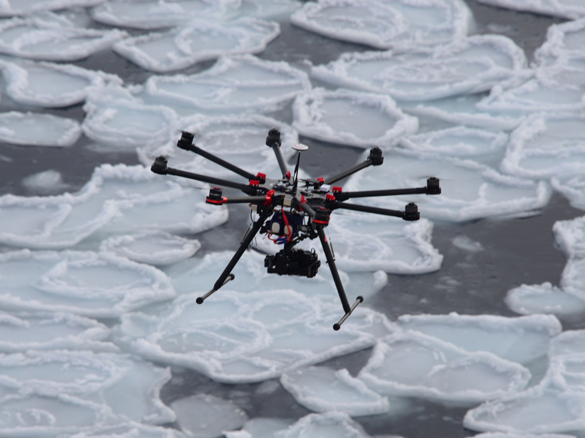 Image result for drone with camera over ice