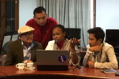 Stakeholders and scientists collaborated together on the human dimension of building capacity for application of satellite data at a NASA capacity building workshop.