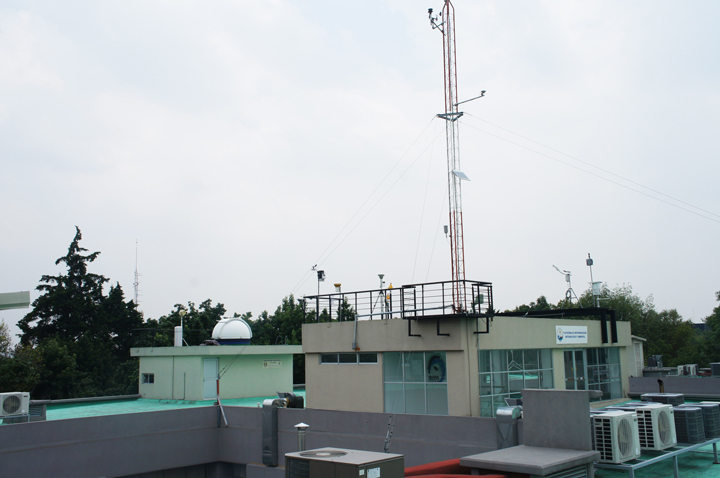 The University Network of Atmospheric Observatories, including this one at the Mexico City campus, is a project of the National Autonomous University of Mexico's Atmospheric Sciences Center.