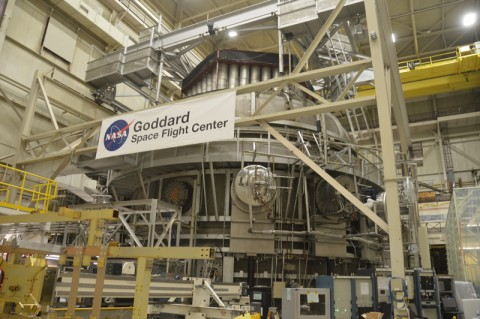 The cryovac chamber at Goddard where scientists have tested the telescope's instruments in frigid conditions. Credit: Randy Showstack