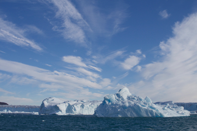Iceberg near West Greenland in summer 2014..