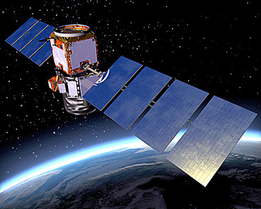 Artist's rendering of the Cloud-Aerosol Lidar and Infrared Pathfinder Satellite Observation (CALIPSO) satellite.