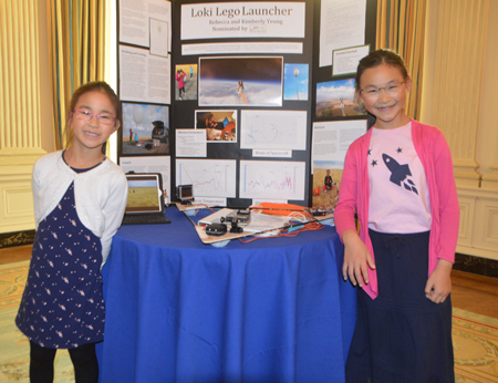 Loki Lego Launcher project at White House Science Fair.