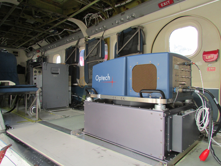 The Titan multispectral airborne laser scanner unit aboard a Twin Otter aircraft.