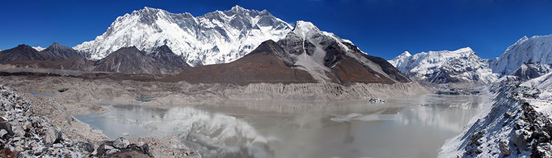 Imja Lake in Sagarmatha National Park grows 75 meters per year.