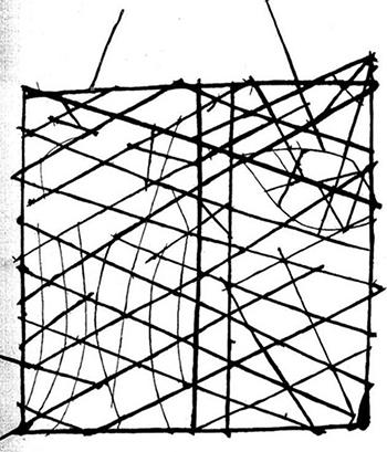 Marshallese navigational chart.