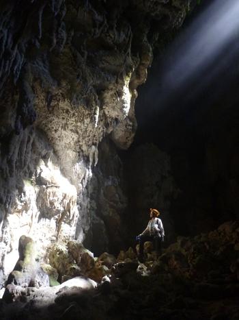 Cueva Dos Ojos, part of the Cueva Larga cave group where samples were taken.
