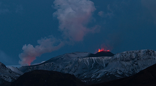 90 percent of the lava flowed under the glacier.
