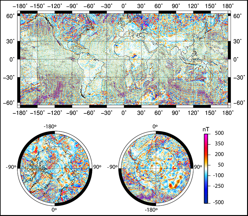 Magnetic Anomaly Map Of The World.Making A Better Magnetic Map Eos
