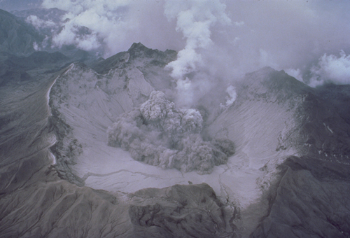 Start of a small explosion on 1 August 1991.