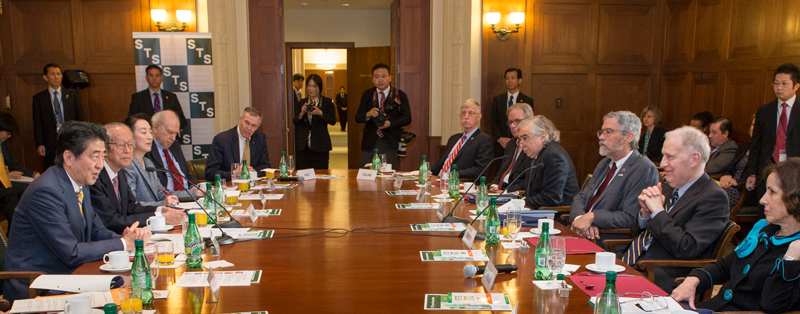 Cicerone meets with Japanese prime minister.