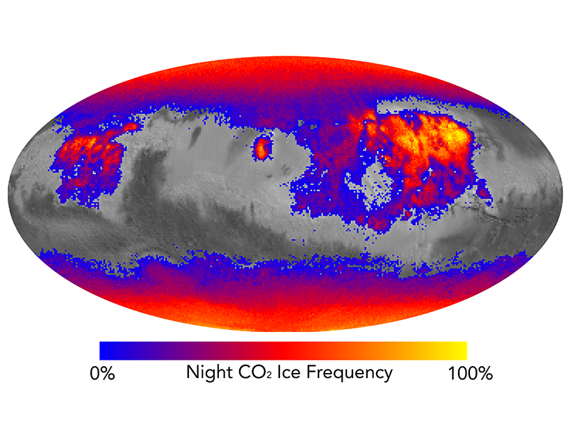 Carbon Dioxide Frost May Keep Martian Soil Dusty - Eos