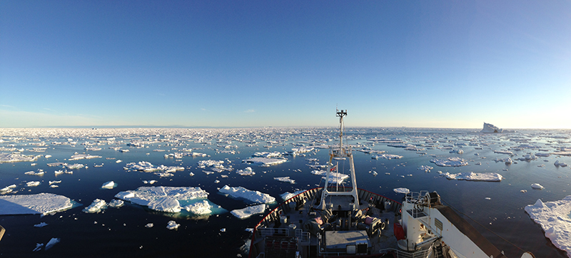 RSS James Clark Ross surveys Labrador Sea around south Greenland.