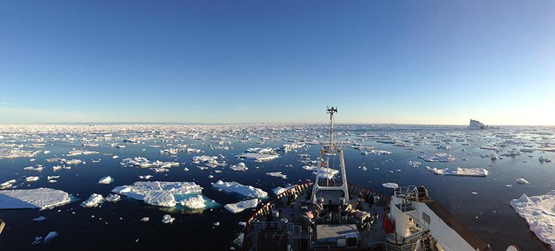 RSS James Clark Ross surveys Labrador Sea around south Greenland.