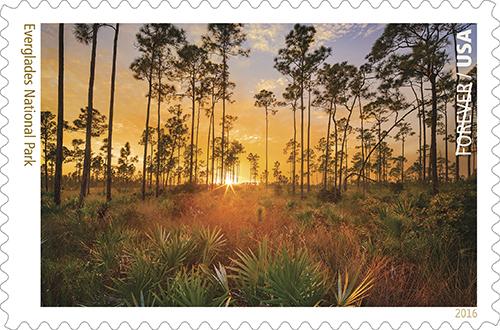 Everglades National Park postage stamp.