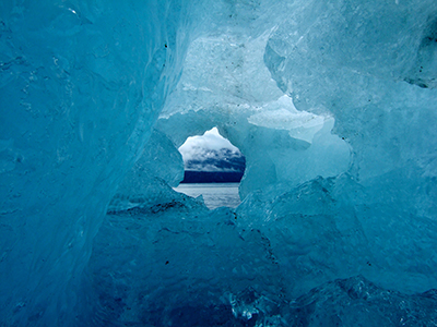 Ice cave, Glacier Bay National Park and Preserve