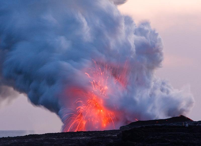 Lava eruption at Kīlauea Volcano, Hawai'i Volcanoes National Park