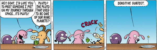 """A """"Pearls Before Swine"""" comic strip by Stephan Pastis."""
