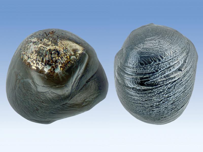 Two micrometeorites