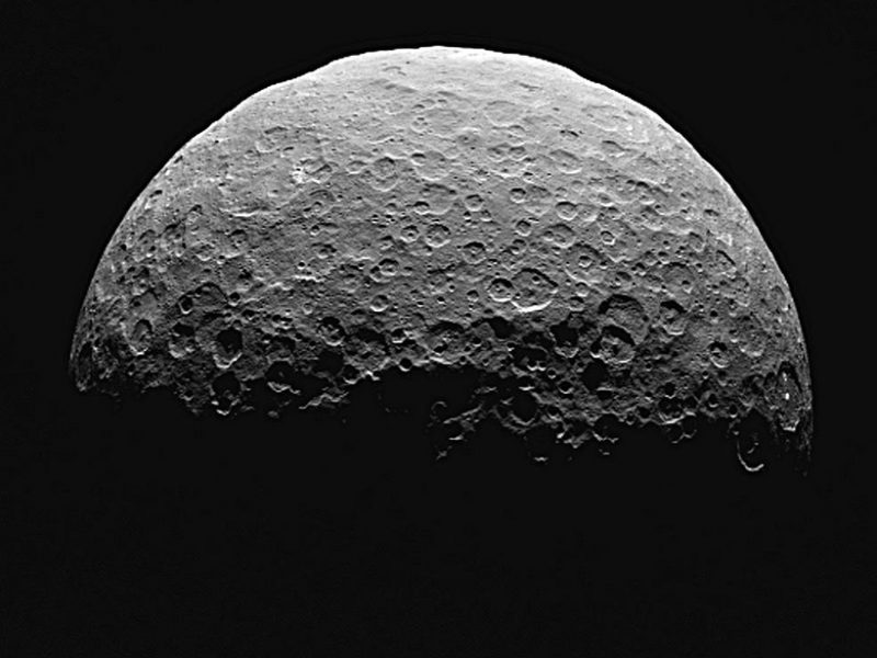 Ceres's northern end.