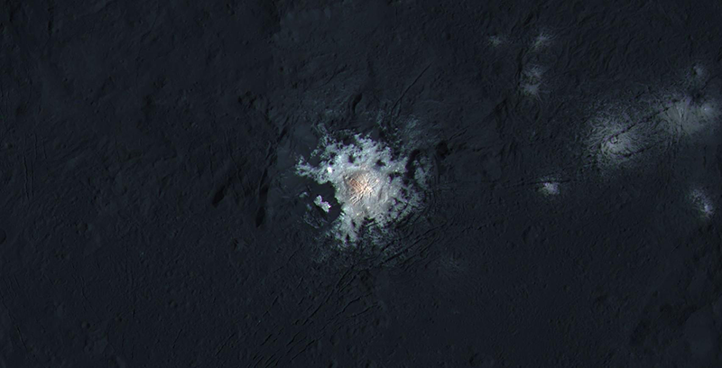 Bright spot within Ceres's Occator crater.