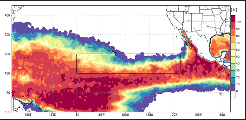 A region of the eastern North Pacific Oceanis a hotbed for hurricane development.