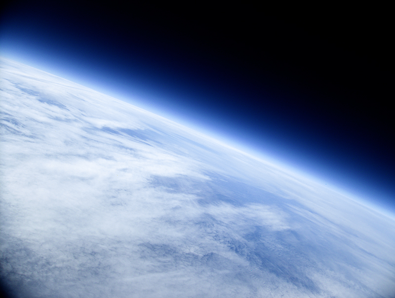 View from 31,000 meters taken by the high school's Project SMART stratospheric balloon flight in November 2015.