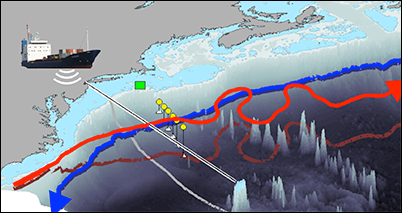 Researchers spot the point where the Gulf Stream current starts to meander.