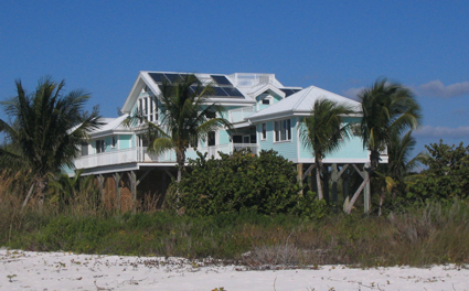 Solar panels on a Florida beach house are now tax-exempt.