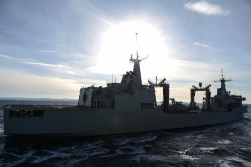 The SPS Cantabria, the refueling ship that was simulated to have been deliberately sunk in exercise Cold Response 16's partnership with academia and the military.