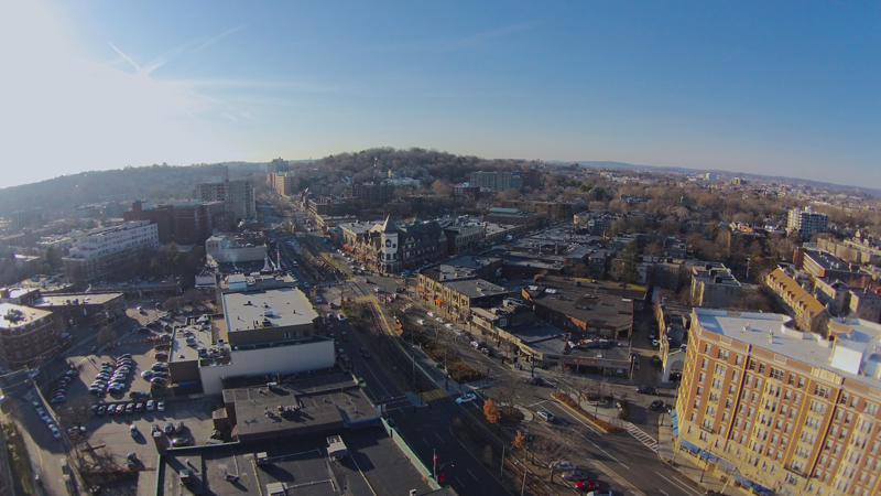 Brookline, Mass., from above.