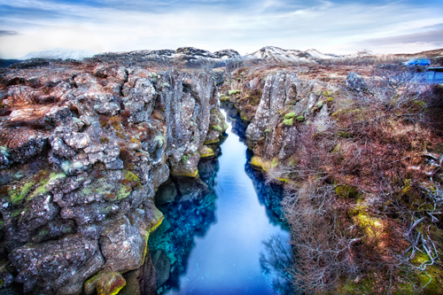 Iceland's Thingvellir rift, a site of spreading phenomena first discussed at the History of the Earth's Crust Symposium.