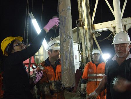 Researchers examine drill cores to trace the history of the Campi Flegrei caldera.
