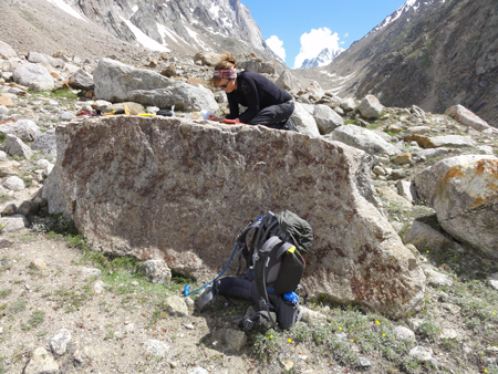 Elizabeth Orr collects samples of glacial debris in India. How will gender bias affect her scientific career?