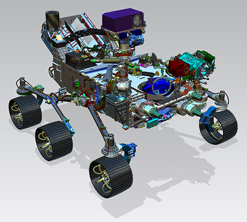 The Mars 2020 rover has new scientific instruments and a sampling and caching system for possible sample return to Earth.