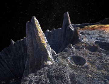 Artist's conception of Psyche's surface