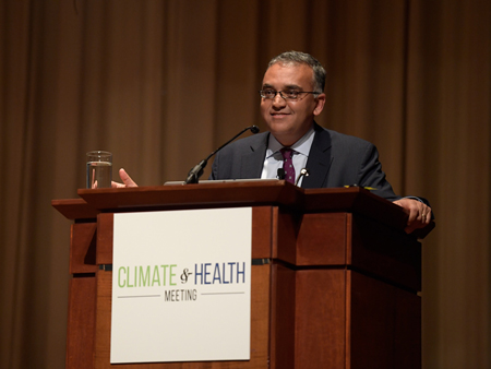 Ashish Jha, who directs the Harvard Global Health Institute in Cambridge, Mass., spoke at the Climate and Health Meeting.