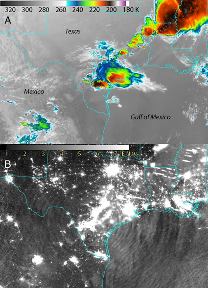 Gravity waves from thunderstorms translate into upper atmosphere variability.
